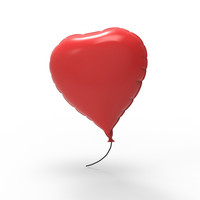 heart balloon 3d model
