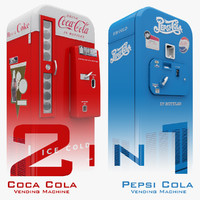 3d coca cola vending machine