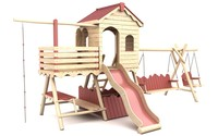 wooden playground 1 3d model