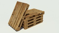 3ds wood pallet euro