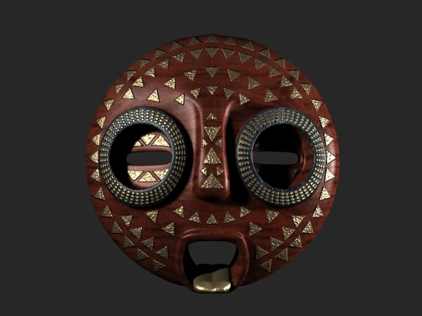 max african mask - African Mask 04... by Funflower