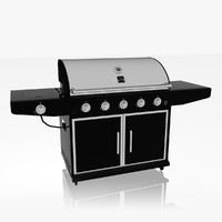kenmore barbecue modeled 3d 3ds