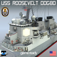 uss dd ddg-80 destroyers 3d max