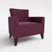 Hill Cross Furniture - Fiamma Lounge Arm Chair