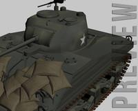 3d sherman m4a3 model