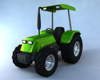Simple Cartoon Tractor