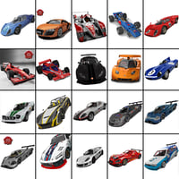 3d model of racing cars 10 1