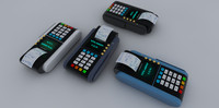credit card reader 3d model