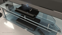 3d max sony tv stand