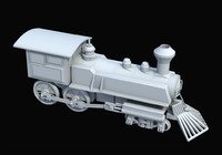 train engine 3d model