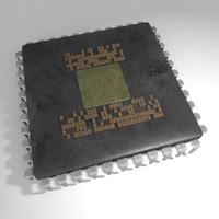 processor computer chip 3d model