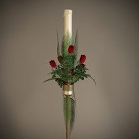 Candle Floral Arrangement