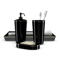 3d max black bathroom fixtures
