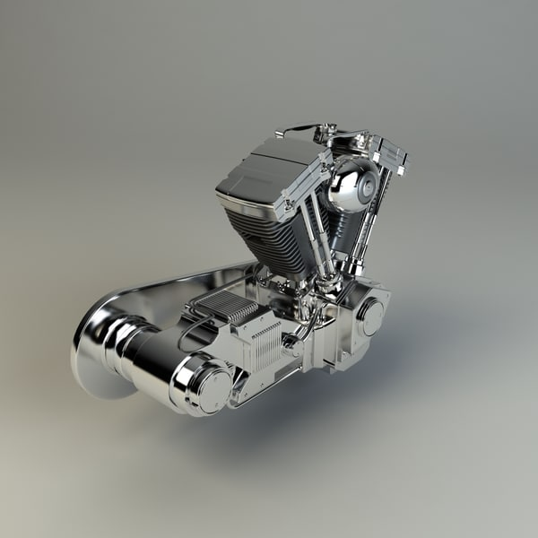 3d v-twin chopper engine model - V-Twin Chopper Engine... by RippleDesign