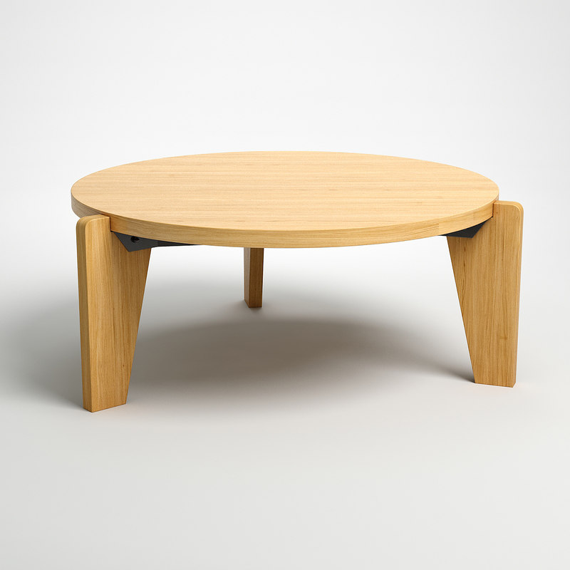 Jean bas coffee table 3d model - Jean prouve coffee table ...