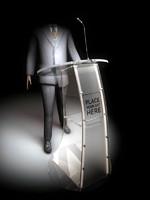 3d model acrylic lectern podium