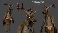 3d wendigo monster model