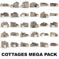 hi-poly cottages mega pack max