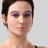 young girl - nadia 3d max