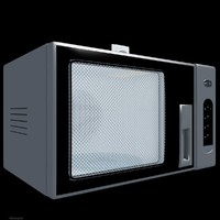kitchen microwave 2 3d model