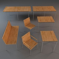 3d model of outdoor furniture tables 2