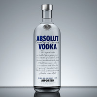 max absolut vodka bottle
