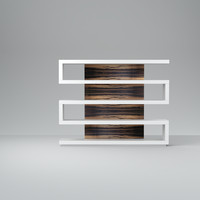 3d bookcase area
