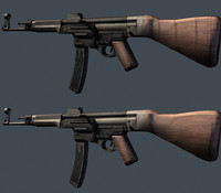 german assault rifle 3d max