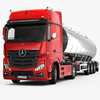 3d model of mercedes-benz actros trailer