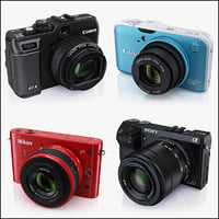 Collection of compact digital cameras