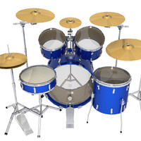 3d max drums percussion instrument