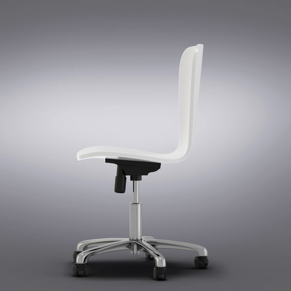 maya crate barrel - felix - Crate and Barrel - Felix White Office Chair... by Vizmode