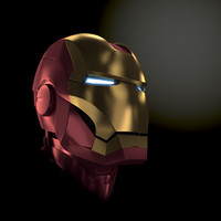 3d iron man head helmet