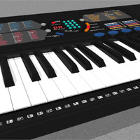 Keyboard: Yamaha PSR180: C4D Model