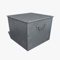 box galvanized 3d model