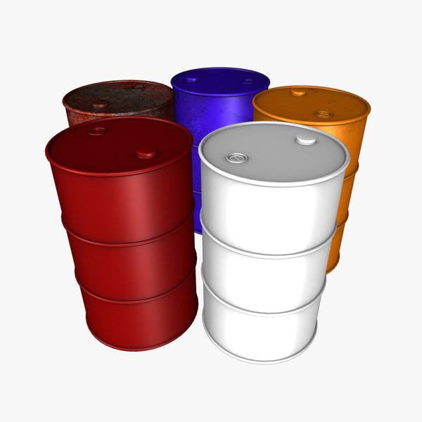 Oil drum barrel 3d model for Motor oil by the barrel