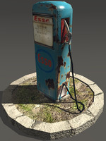 old gas station 3ds