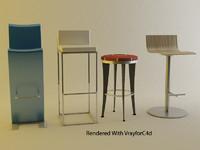 3dsmax pack vol 1 stools