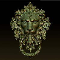 lion door knocker 3ds