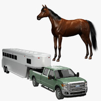 Horse and Trailer Pickup