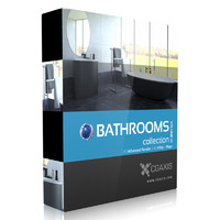 3d volume 22 bathrooms model