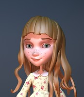 cartoon character girl 3d max