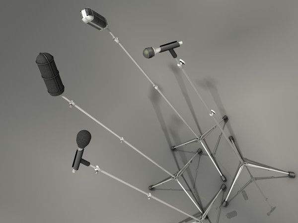 microphone mics 3d model - microphone collection pack... by CandyGrim