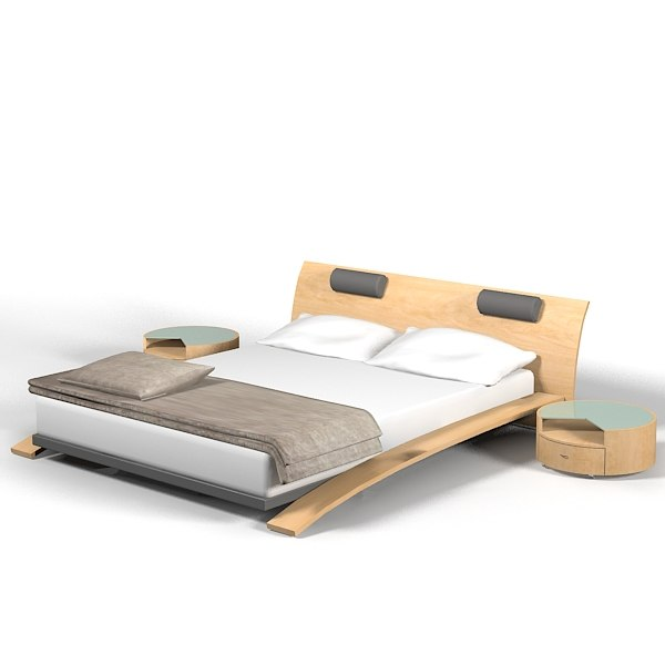3d modern double bed - Double bed image ...