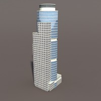 high-rise modelled 3d model