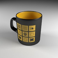obj black coffee cup