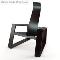 skram fade arm chair 3d model