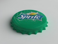 bottle tin cap 3d max