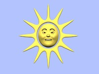 maya cartoon sun character animation