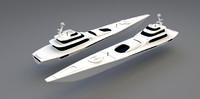 3d model 82 meters yacht